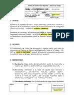 PRC-SST-004 Procedimiento Para El Control de Documentos y Registros
