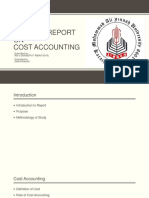 Cost Project Report