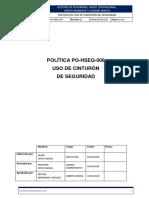 PO-HSEQ-006 Política de Uso de Cinturón de Seguridad