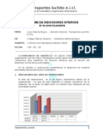 Informe de Indicadores Internos Febrero - 18