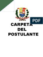 Carpeta Postulante EO 2015