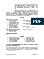 Acta de La Sesión Ordinaria Del Consejo Escolar Del Instituto de Educación Secundaria