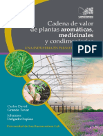 Cadena Valor Plantas Aromáticas Medicinales Condimentarias