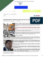 Transporte Público en Honduras, Entre El Caos Vial y El Oscuro Laberinto Del Delito