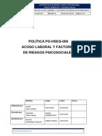 PO-HSEQ-009 Politica de Acoso Laboral y Factores de Riesgos Psicosociales