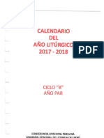 Calendario Litúrgico 2018