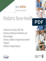 Pediatric Bone Health
