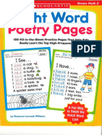 Sight Word Poetry Pages Scholastic