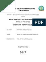 Tipos de Energia Renovable(Resumen)