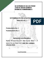 Determinación de La Razón Cp-cv