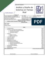 Análisis y Diseño de Sistemas en Tiempo Real Plan 2008