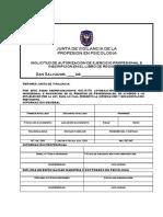 SOLICITUD DE AUTORIZACIÓN DE EJERCICIO PROFESIONAL E INSCRIPCIÓN EN EL LIBRO DE REGISTROS