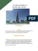 Todo Sobre El Burj Khalifa