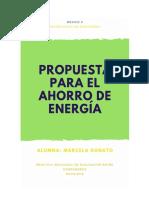 Propuesta para el ahorro de energía