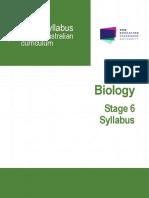 Biology Stage 6 Syllabus 2017