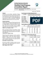 South Carolina Crop Progress and Condition Report