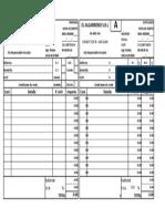 Planilla de Excel de Nota de Debito