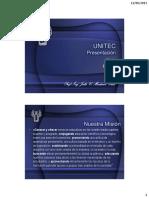 12_06_2013. UNITEC Presentación. Misión Filosofía. Prof. Ing. Julio C. Martínez Cruz
