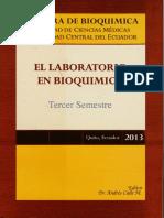 El Laboratorio de Bioquimica- Tercer Semestre