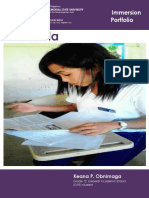 Keana Immersion Portfolio Format and Sample