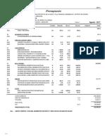 03.01 Presupuesto Mantenimiento