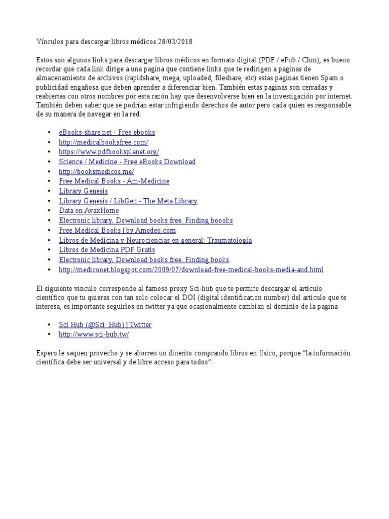 Links Descarga Libros Medicos