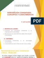 La Intervecion Comunitaria- Conceptos y Características