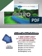 2001 Chevrolet Metro Manual en CA