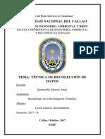 Sem 11. Técnicas de Recolección de Datos