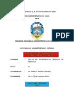 Informe Sobre Los Instrumentos de Evaluacion de Personal