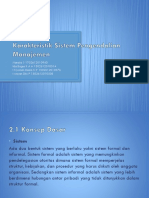 Karakteristik Sistem Pengendalian Manajemen