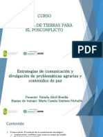Estrategias de comunicación posconflicto - Natalia Abril