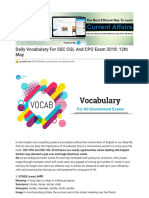 Daily Vocabulary for SSC CGL and CPO Exam 2018_ 12th May