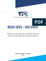 Impactos Socioambientais No Espírito Santo Da Ruptura Da Barragem de Rejeitos Da Samarco