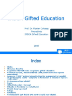 IRSCA Gifted Education 2007