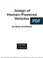 Designing the Human Power Vehicle
