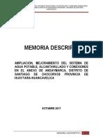 Memoria Descriptiva Andaymarca