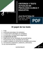 Criterios y Tests Actuales en Test