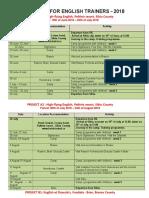 2018 Programme for Volunteers
