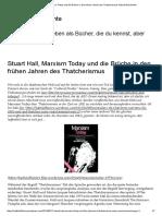 Stuart Hall, Marxism Today Und Die Brüche in Den Frühen Jahren Des Thatcherismus Hatvoll Geschichte
