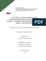 Analisis y Comparacion de Ciclos Termodinamicos Para La Generacion de Potencia...