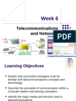 Week 6- Telecommunications and Networks
