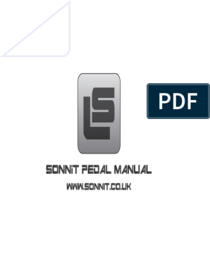Sonnit Pedal Instructions   Input/Output   Computer Engineering