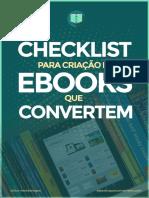 Checklist Criação de eBooks