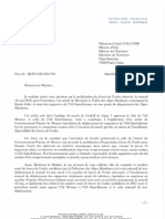 Courrier G Collomb Supporters ASSE