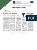 A rede social Facebook como recurso de información académica e profesional