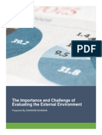 Evaluation of Externel Environment