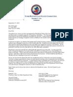Rick Lazio Letter