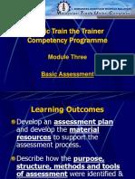 2 - Basic Assessment in Training