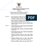 KMK No. 1538 Ttg Standar Pengelolaan Spesimen Legionella
